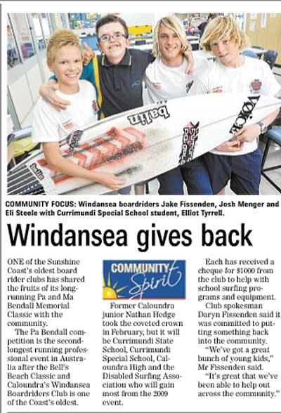 Windansea gives back to community